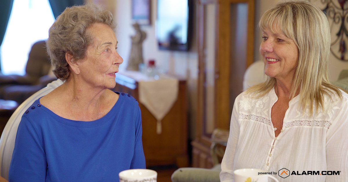 talk with older loved one about wellness