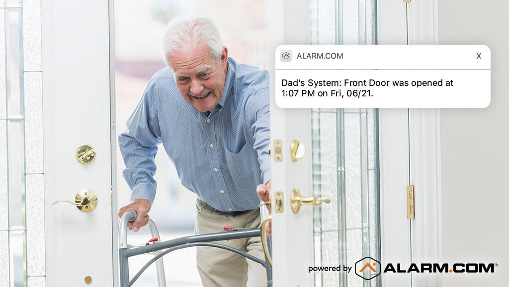 alert: older loved one's activities